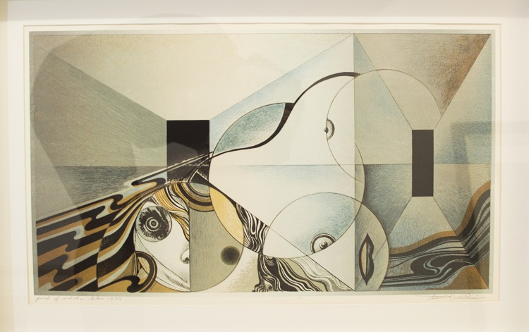 Armando BaldinelliArmando Baldinelli Italian-SA, 1908- 2003, Abstract Composition with Circles, Lithograph, signed artist's proof 1974, 69cm x 45,5cm