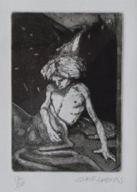 Conrad Botes , SA,(1969- ) Arab Etching 12/20 20cm x 23cm