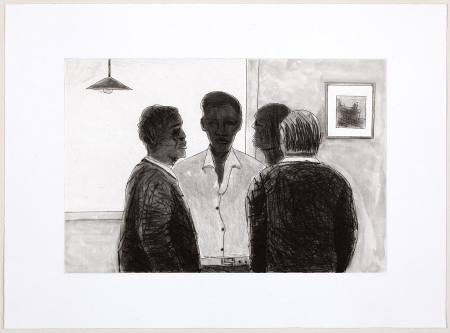 118 Sam Nhlengethwa, SA 1955 -, Night Visit Natalspruit, 2006 Etching Printer