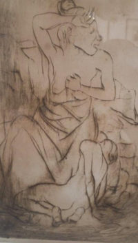 Wolf Kibel - Seated Figure.,