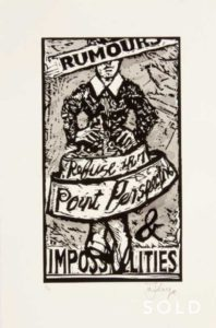 William Kentridge (1955 - ) Rumours and Impossibilities, 2010 Poster Printers Proof 1/2 47 x 31 cm (SOLD)