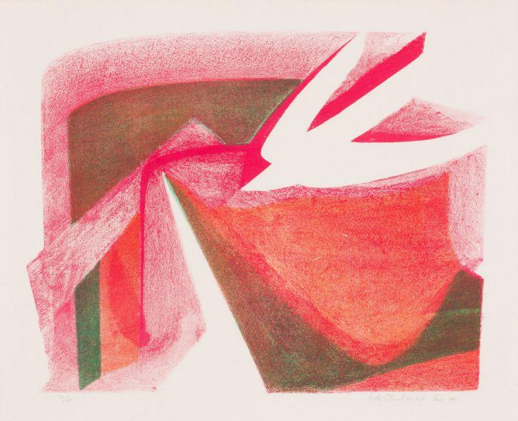 Bettie Cilliers Barnard, (SA 1914 - 2010) Dove Signed Paris 1981 Lithograph 34/50 52,5 x 64,5cm