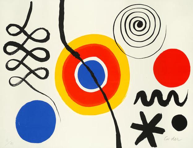 ALEXANDER CALDER (American, 1898-1976) Soleil & Spirale