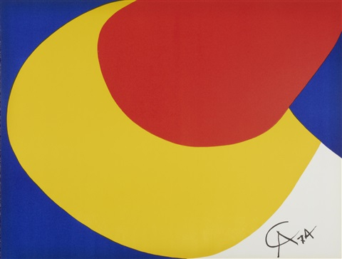 Alexander Calder, USA (1898-1976)ConvectionFlying Colour series, 1974Lithograph, signed in print66cm x 51cm