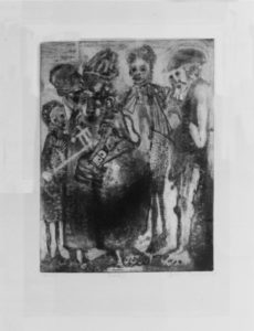 Cyprian Shilakoe, SA,1946-1972 Group 1, 1969 Etching, signed 19 of 20 33cm x 50cm
