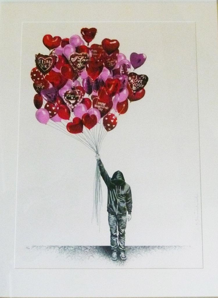 Mr Brainwash, France (1966-) Love is in the Air, 2015. 101-160, , 54cm x 75cm