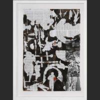 Ofentse Seshabela, Untitled 3, mixed media on paper , 42 x 29cm