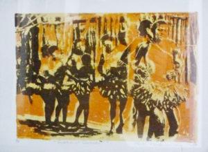 Osiah Masekoameng, SA 1965, Traditional Dance, 1998 Colour lithograph, signed 2 of 8 28cm x 25cm