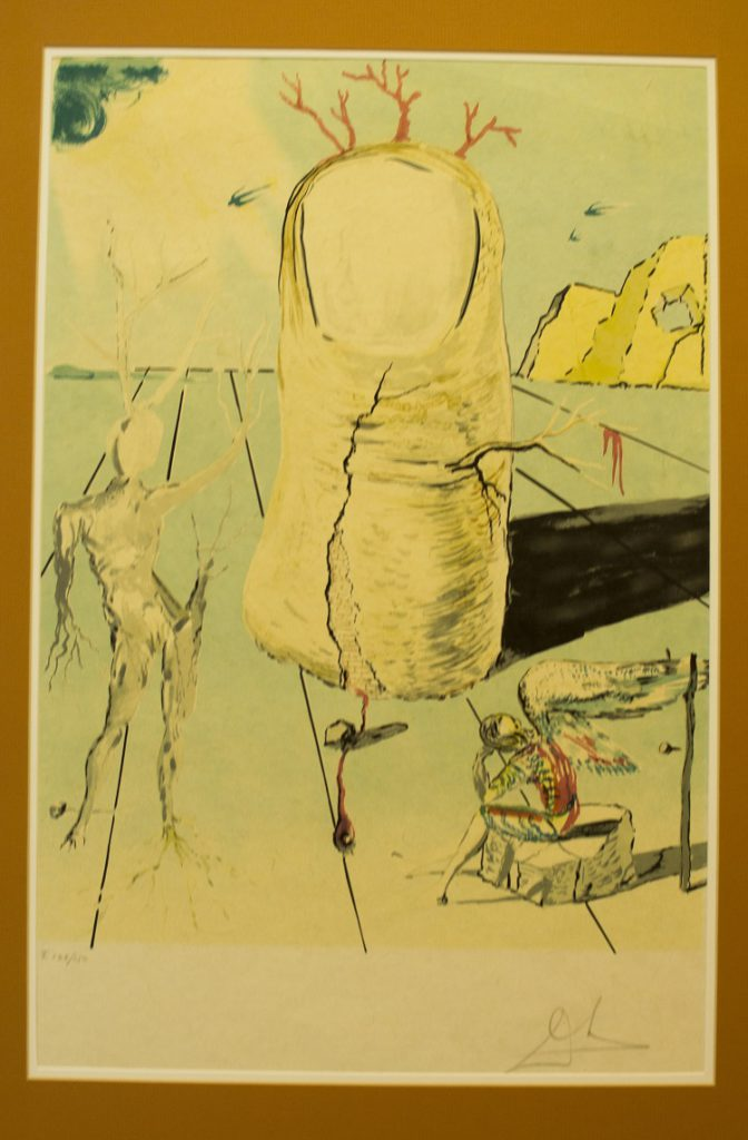 Salvador Dali Spanish, 1904-1989 The Vision of the Angel of Cap Creus, The Thumb, signed in pencil Lithograph, 129 of 150, 43cm x 66cm