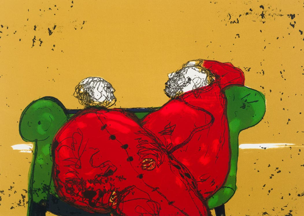 Robert Hodgins , (SA 1920 - 2010) Rome signed 2008 colour Etching , 31of35 56cm x 76cm