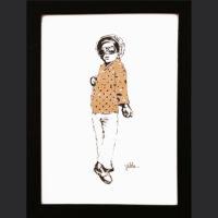 Sandile Valela Busuku, Selfcav, signed 2017, Digital sketch ed 2 of 3, 29 x 42 cm