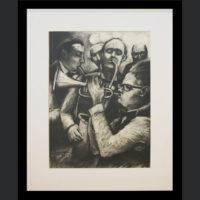 Selwin Pekeur, (SA 1957 - ) , Musicians , signed 1995, charcoal on paper , 57cm x 42cm