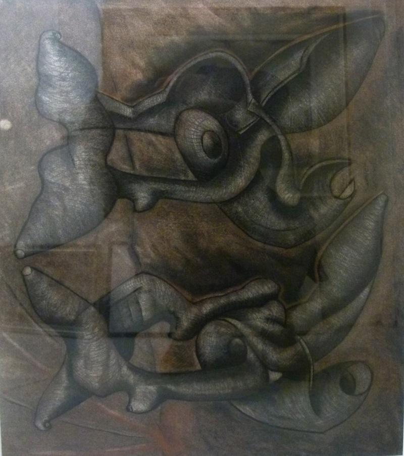 Sydney Kumalo,SA ( 1935 - 1988) Untitled Mixed Media, signed 1976 60,5cm x 51cm