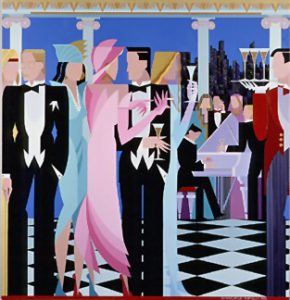 Giancarlo Impiglia, Italain (1940-) , An Evening to Remember 1988, Silkscreen 69-300