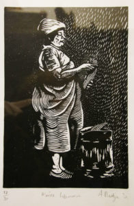 Aviwe Plaatjie, Win, 2018 , Linocut 1/7, 39 x 32 cm