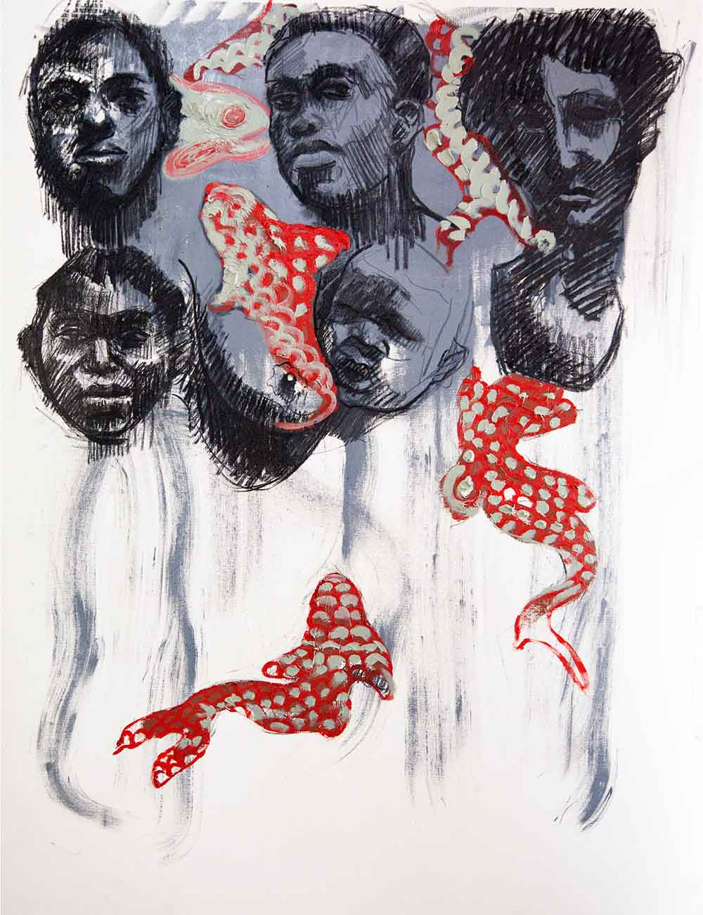 Ronald Muchatuta - Dzoka Uyamwe - 140 x 100 cm