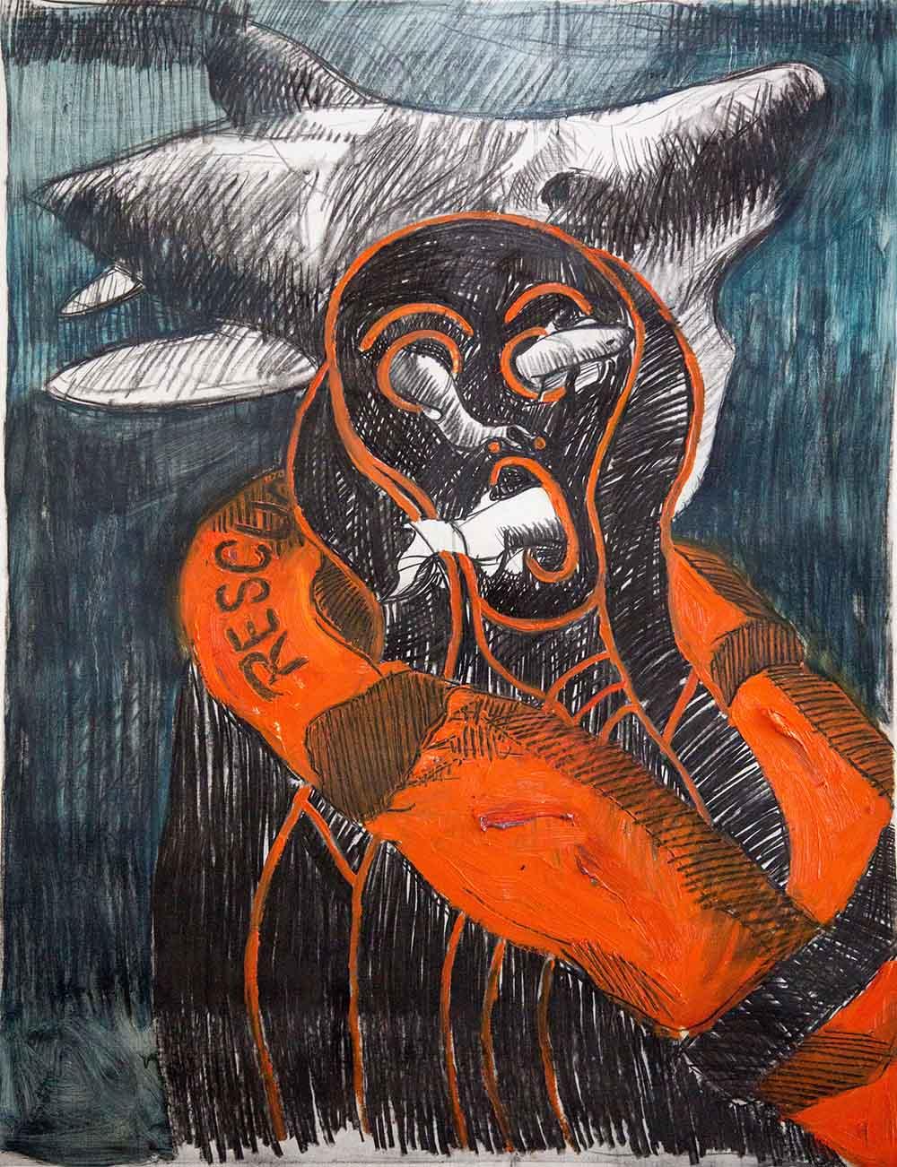 Ronald Muchatuta - Survival - 140 x 101 cm