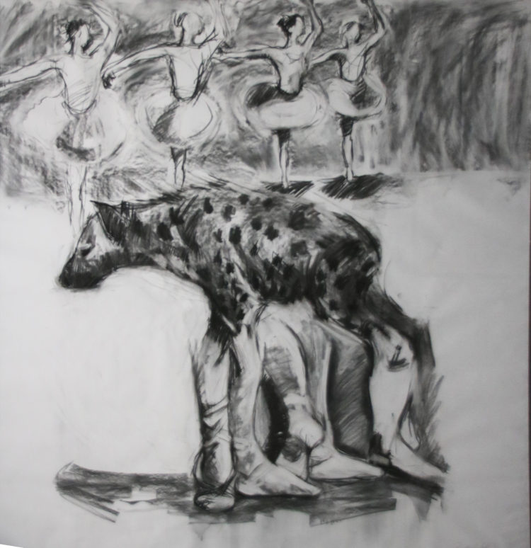 Ronald Muchatuta, Zimbabwe/SA (1980-) Shanduka II / Transformation II, 2014 Charcoal on paper 158cm x 149cm