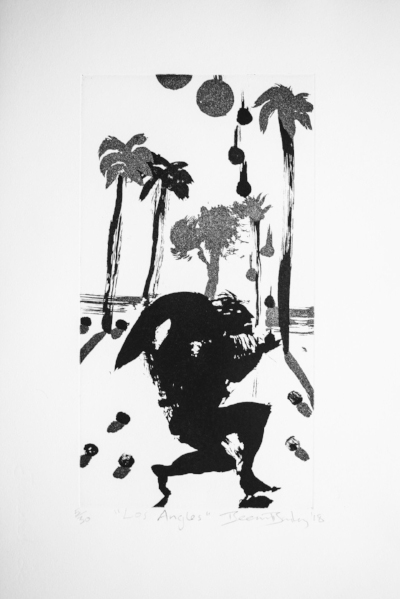 Beezy Bailey,Los Angeles, 2018,etching 6of30 33 x 50 cm