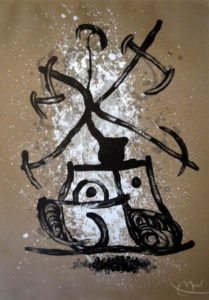 Joan Miro, Spanish (1893 - 1983) L'Entraineuse (The Brown One) Lithograph 5/75, signed 1969, 58cm x 84cm