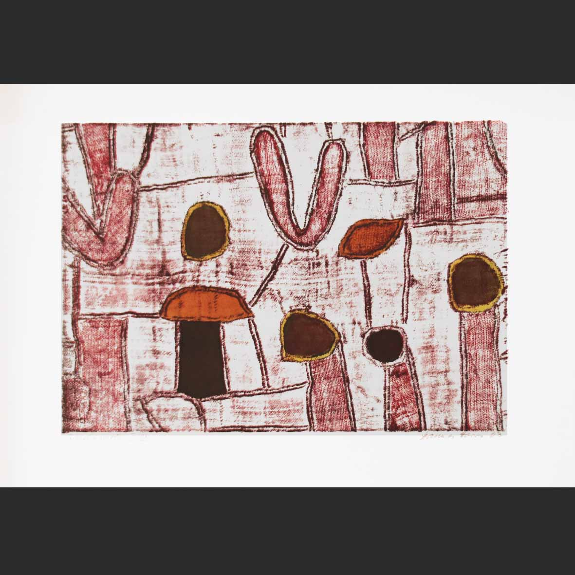 Hannes Haars, (SA 1927 - 2006) Abstracts Lithograph 20of30 26 cm x 39cm