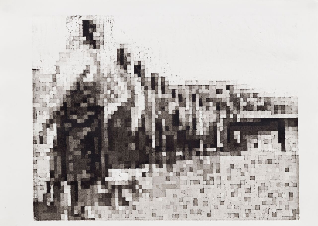 Xhanti Zwelendaba, SA Zithuthe II Ink on munken 240grams 84cm x 64cm