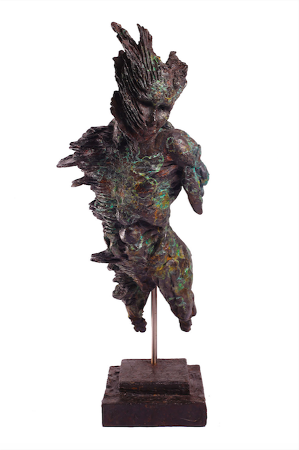 Stanislaw Trzebinski-Fan Coral Figure2014 Bronze Edition1of7 42cm x 19,5cm x 11cm