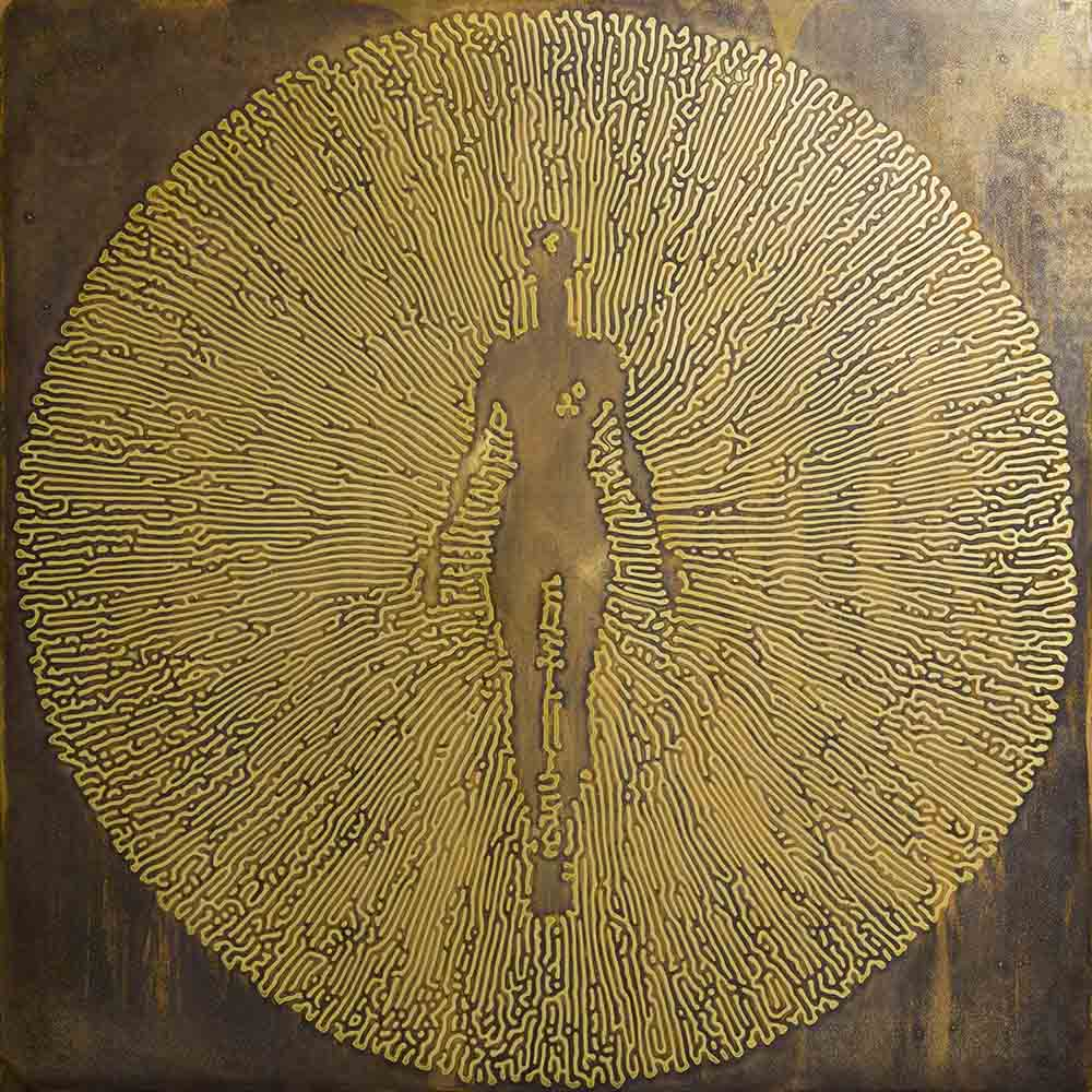 Stanislaw Trzebinski Mushrrom coral Male 2017 Etched brass and archival epoxy resin 2of 3 100 x 100