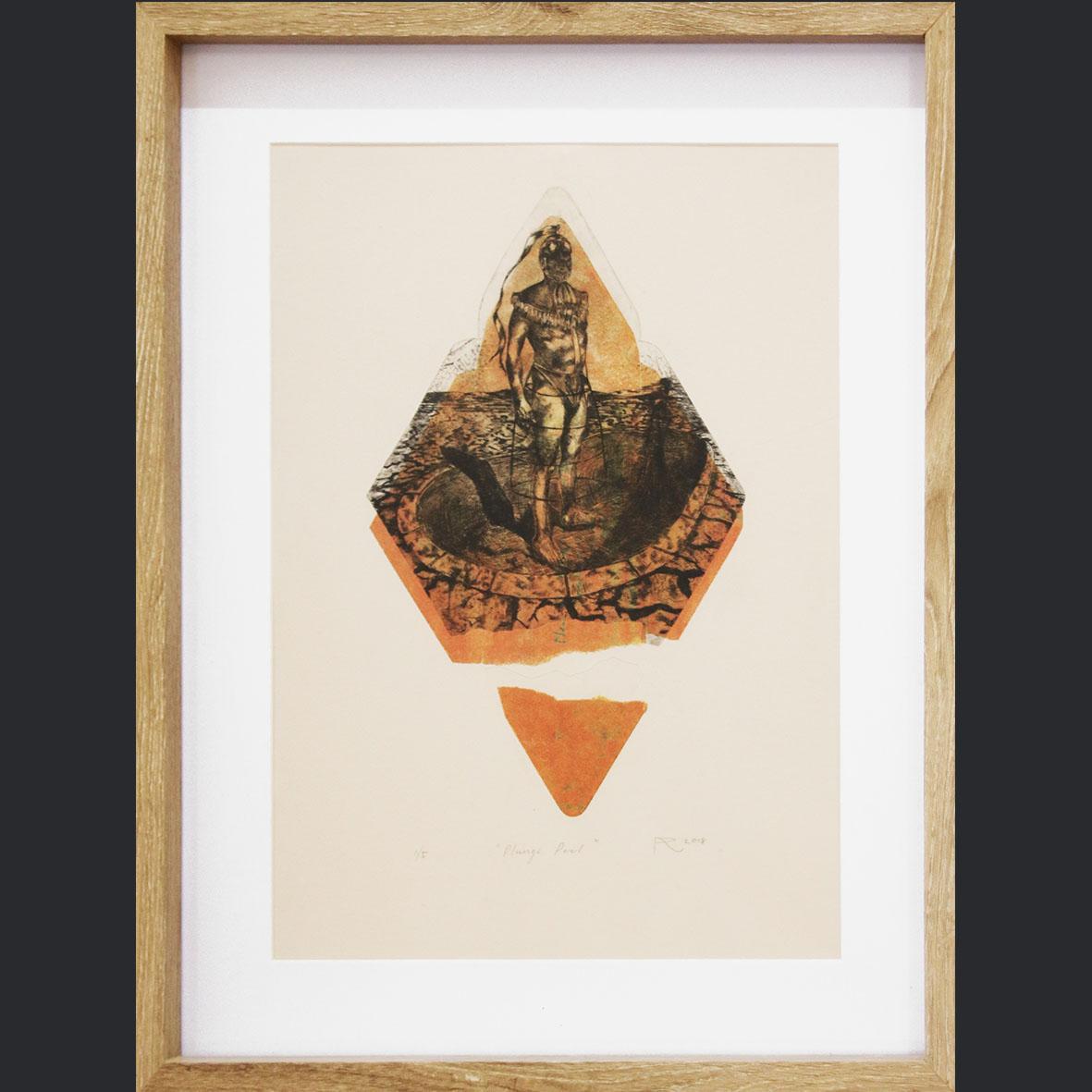 Adrian Ranger, Plunge Pool 1 of 5, 2018, Hyprid Print, 42.5 x 52.5 cm