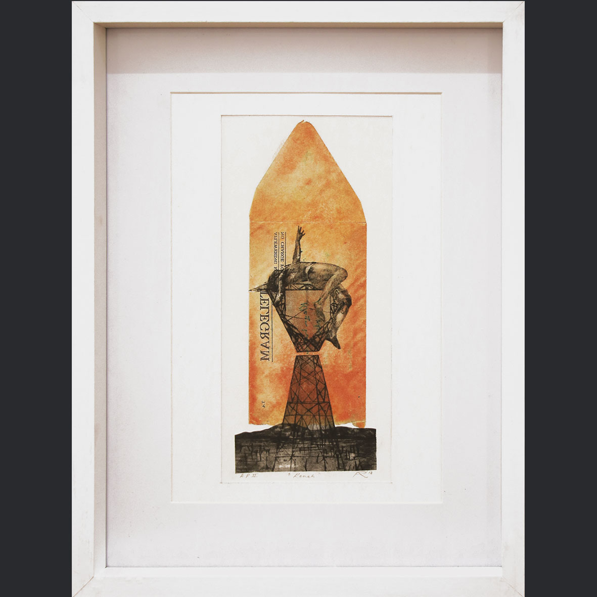Adrian Ranger, Reach - APII, 2018, Hybrid Print, 32.5 x 42.5 cm