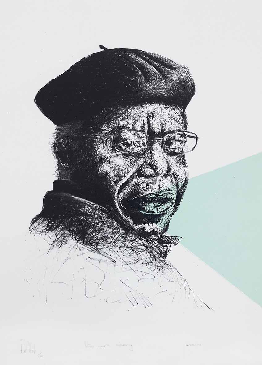 Fumani Khumalo His own Story 2019 Lithograph , 1of10 50 x 66cm