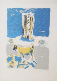 Andrew Clement Verster, (SA 1937 - ) Die Laaste Dag - Homage to Seferis, 1987 Homage to Seferis - Poems by George Seferis Colour Silkscreen , 17of100 58cm x 42cm