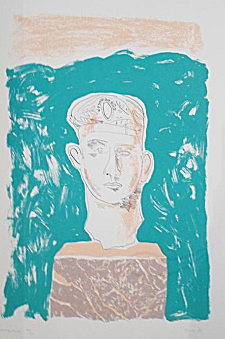 Andrew Clement Verster, (SA 1937 - ) Hampstead , 1987 Homage to Seferis - Poems by George Seferis Colour Silkscreen , 17OF100 58cm x 42cm