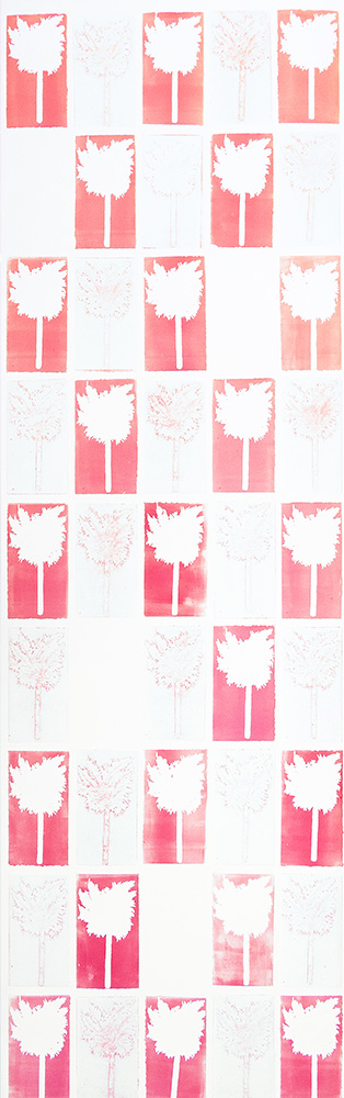 Backdrop 2, 1, 3 & 4 2020 Print collage (collagraph prints) 1/1 199.5 x 63 cm